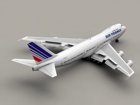 boeing 747-200 air france 3d model 3ds max lwo obj 113970