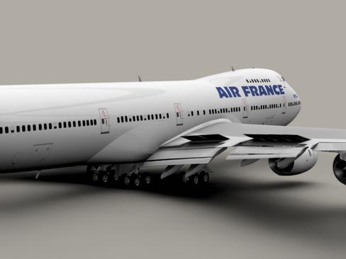 boeing 747-200 air france 3d model 3ds max lwo obj 113971