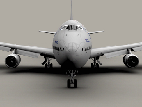boeing 747-200 air francuska 3d model 3ds max lwo obj 113972