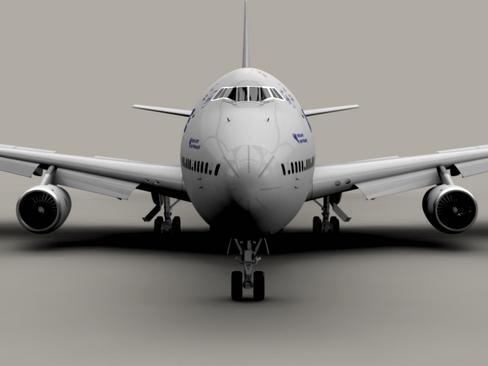 boeing 747-200 air france 3d model 3ds max lwo obj 113972