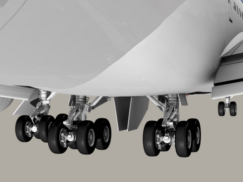boeing 747-200 air francuska 3d model 3ds max lwo obj 113974