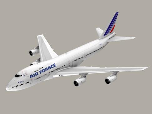 boeing 747-200 air france 3d model 3ds max lwo obj 113975