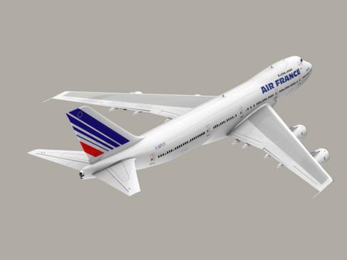 boeing 747-200 air france 3d model 3ds max lwo obj 113976