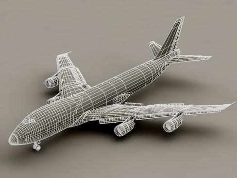 boeing 747-200 air france 3d model 3ds max lwo obj 113977