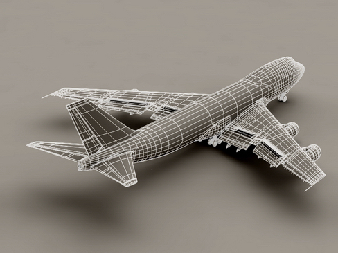 boeing 747-200 air francuska 3d model 3ds max lwo obj 113978