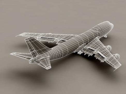 boeing 747-200 air france 3d model 3ds max lwo obj 113978