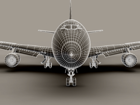 boeing 747-200 air francuska 3d model 3ds max lwo obj 113980