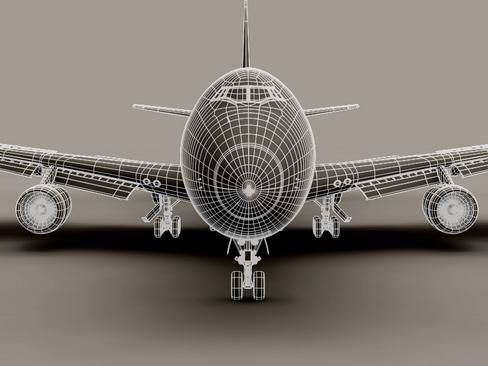 boeing 747-200 air france 3d model 3ds max lwo obj 113980