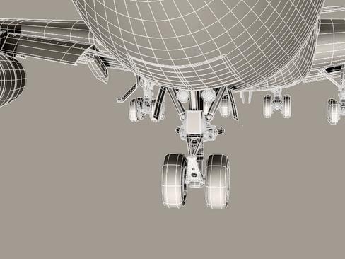 boeing 747-200 air france 3d model 3ds max lwo obj 113981