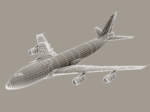 boeing 747-200 air francuska 3d model 3ds max lwo obj 113983