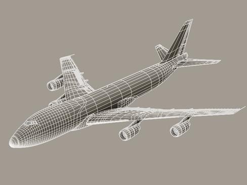 boeing 747-200 air france 3d model 3ds max lwo obj 113983