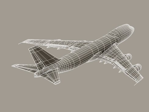 boeing 747-200 air francuska 3d model 3ds max lwo obj 113984