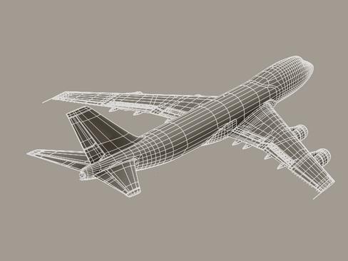 boeing 747-200 air france 3d model 3ds max lwo obj 113984