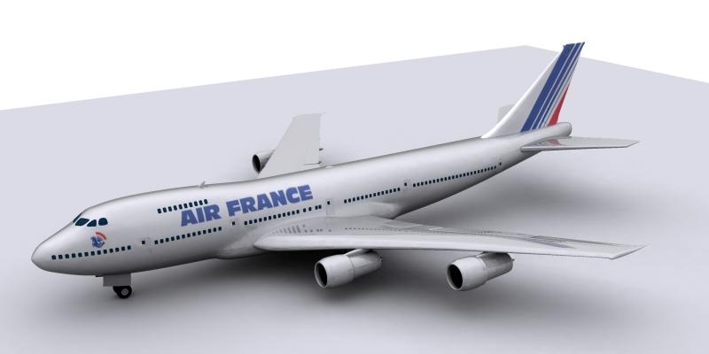 boeing air france 3d model max 115009