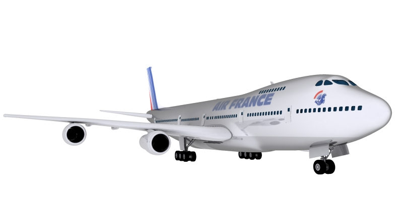boeing air france 3d model max 115011