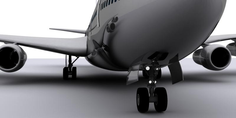 boeing air france 3d model max 115012