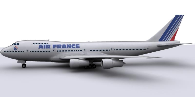 boeing air france 3d model max 115013