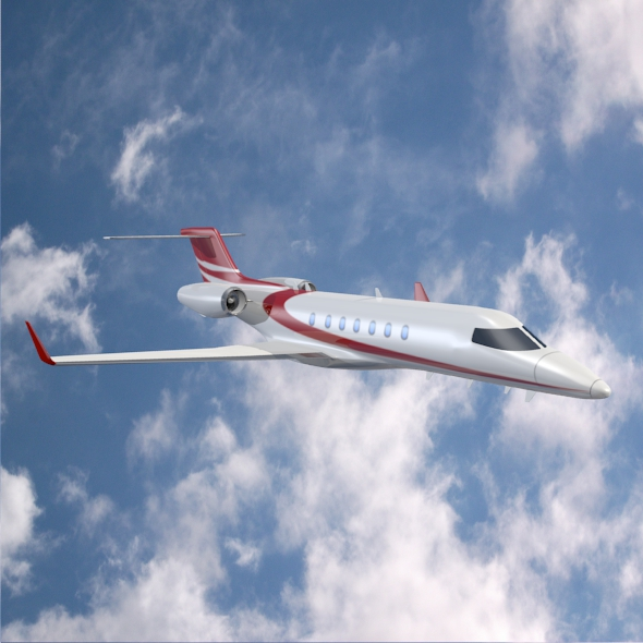 bombardier learjet 85 private jet 3d model 3ds fbx blend dae lwo obj 162181