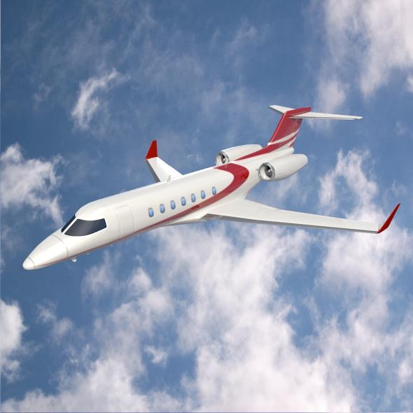 bombardier learjet 85 private jet 3d model 3ds fbx blend dae lwo obj 162182