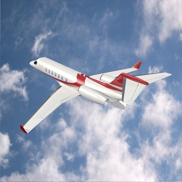 bombardier learjet 85 private jet 3d model 3ds fbx blend dae lwo obj 162184