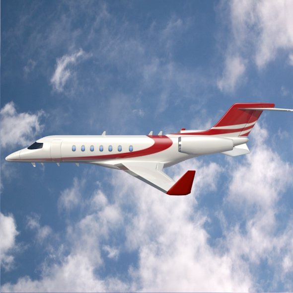 bombardier learjet 85 private jet 3d model 3ds fbx blend dae lwo obj 162185