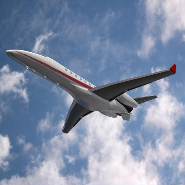 bombardier learjet 85 private jet 3d model 3ds fbx blend dae lwo obj 162186