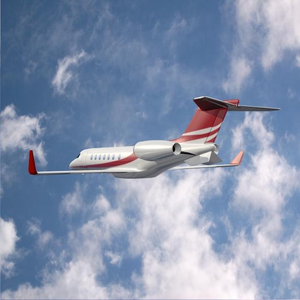 bombardier learjet 85 private jet 3d model 3ds fbx blend dae lwo obj 162187