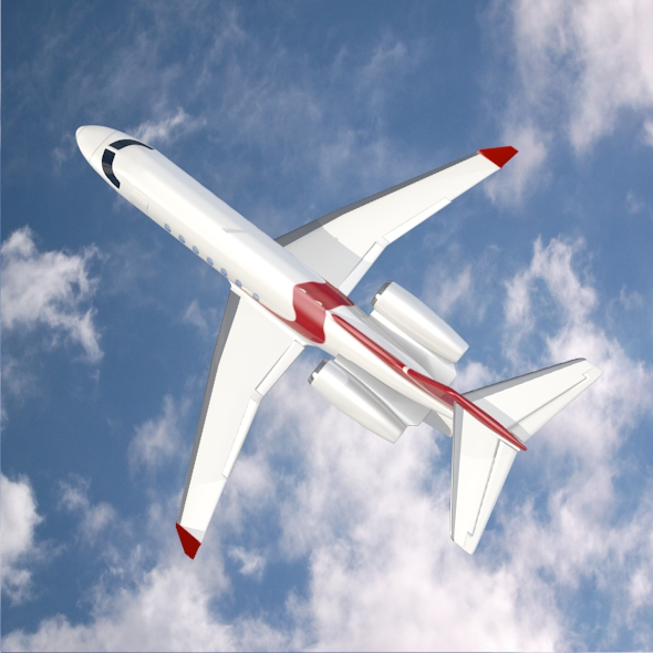 bombardier learjet 85 private jet 3d model 3ds fbx blend dae lwo obj 162188