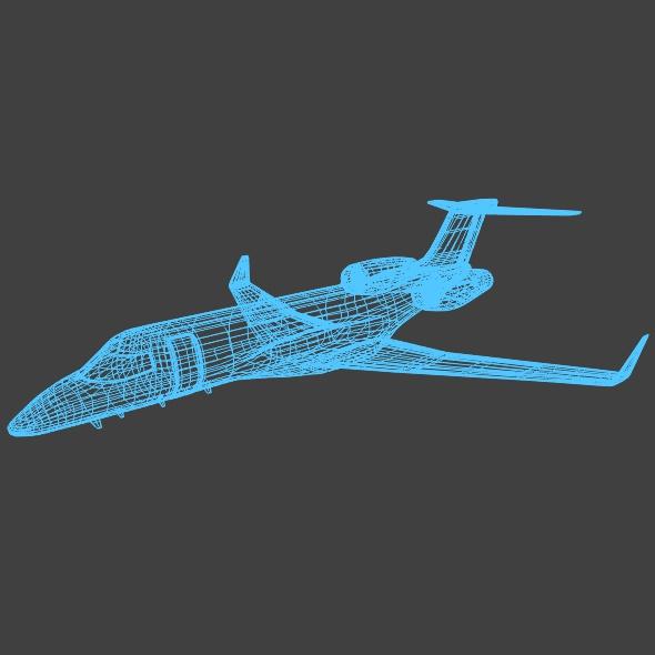 bombardier learjet 85 private jet 3d model 3ds fbx blend dae lwo obj 162189