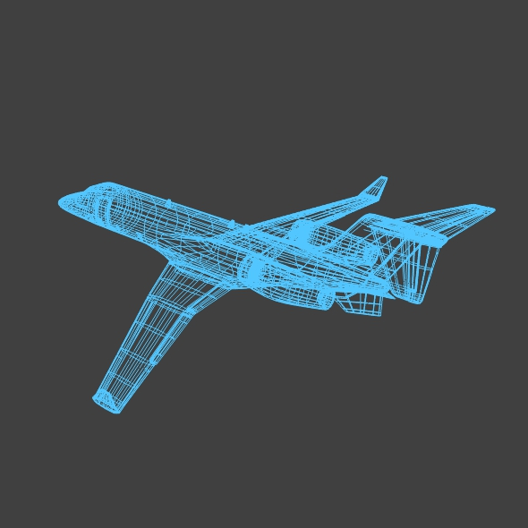 bombardier learjet 85 private jet 3d model 3ds fbx blend dae lwo obj 162190