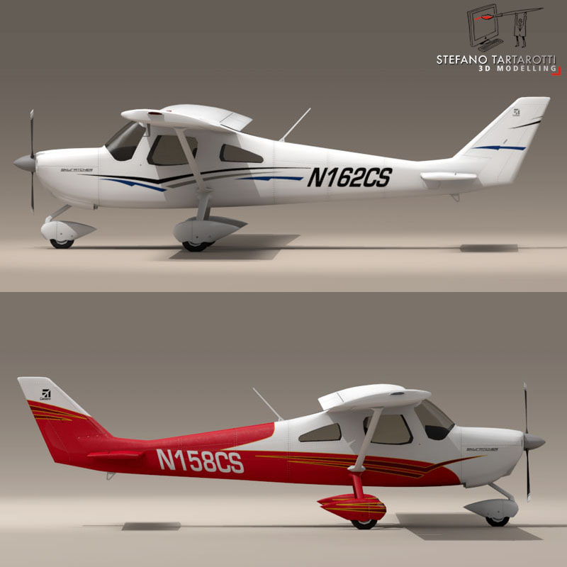c162 skycatcher 3d model 3ds dxf fbx c4d obj 150859