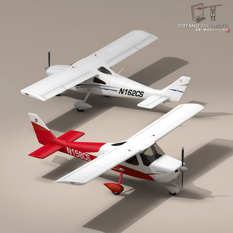 c162 skycatcher 3d model 3ds dxf fbx c4d obj 150860