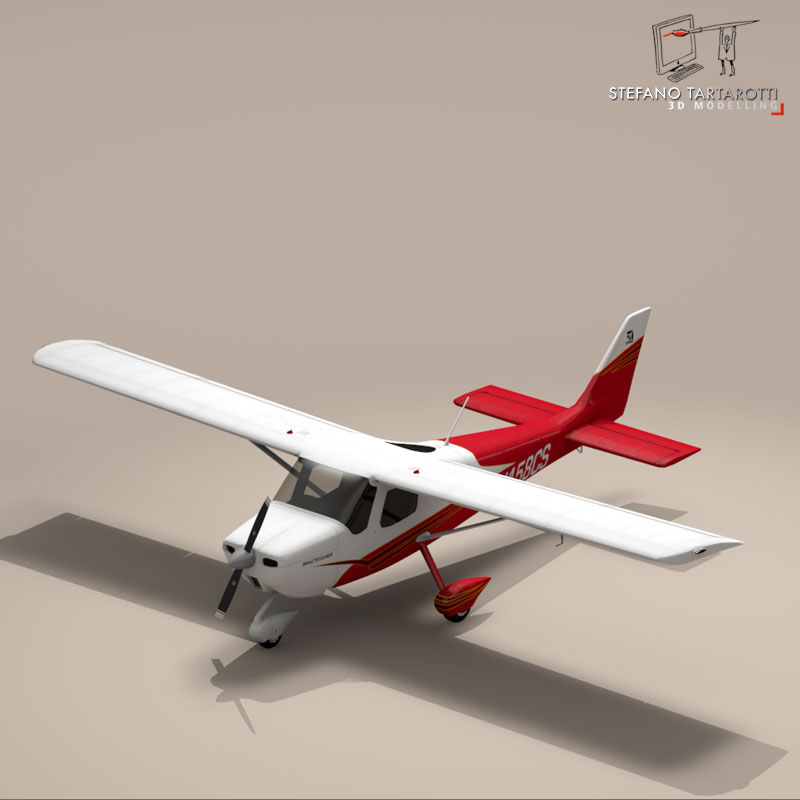 c162 skycatcher 3d model 3ds dxf fbx c4d obj 150861