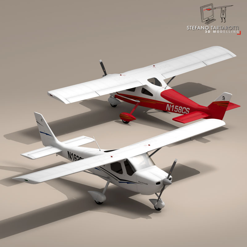 c162 skycatcher 3d model 3ds dxf fbx c4d obj 150862