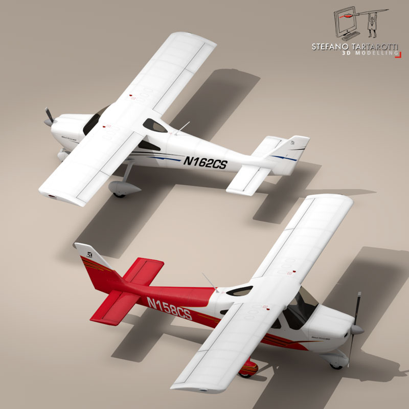 c162 skycatcher 3d model 3ds dxf fbx c4d obj 150863