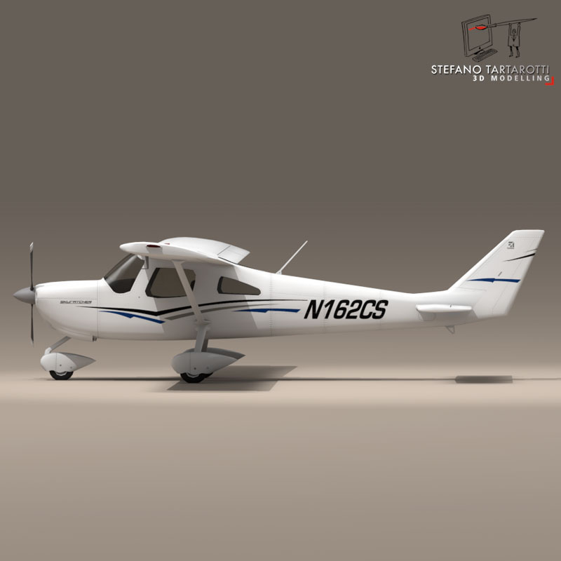 c162 skycatcher 3d model 3ds dxf fbx c4d obj 150864