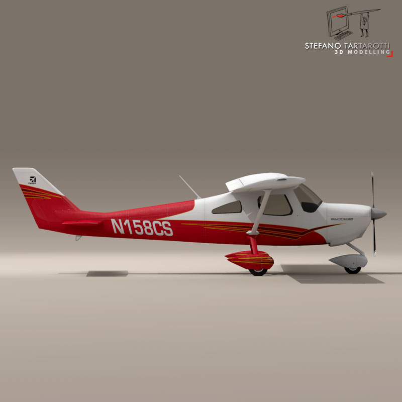 c162 skycatcher 3d model 3ds dxf fbx c4d obj 150865