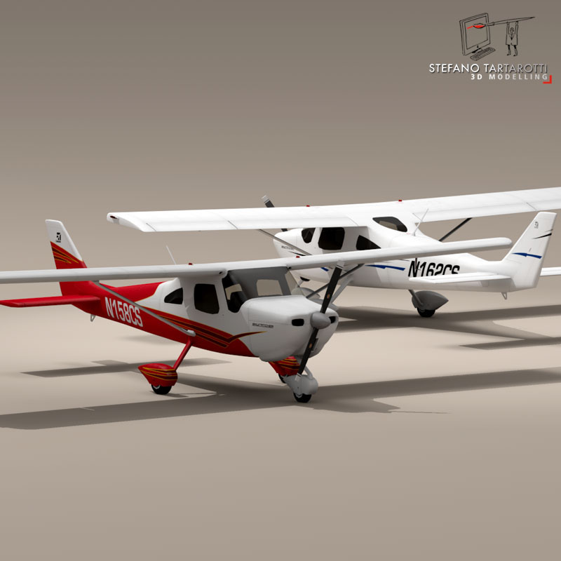 c162 skycatcher 3d model 3ds dxf fbx c4d obj 150866