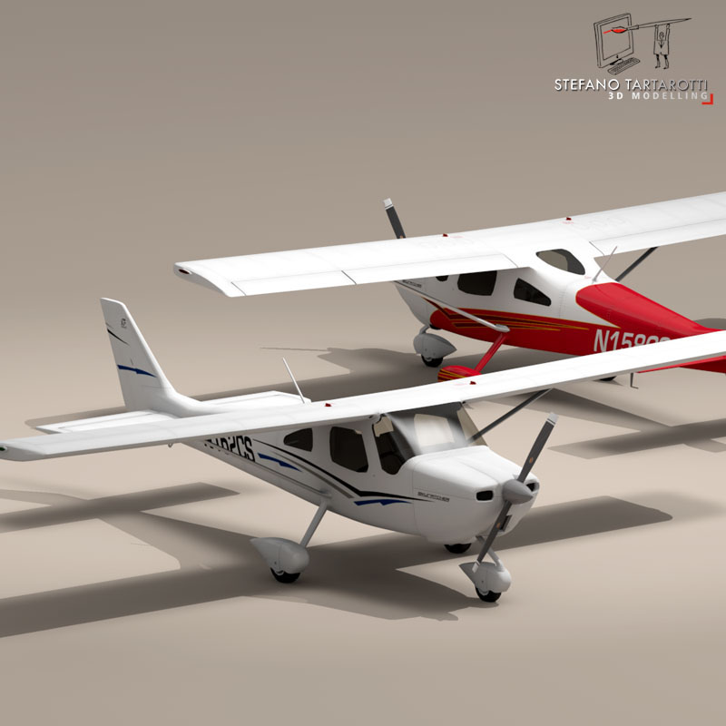 c162 skycatcher 3d model 3ds dxf fbx c4d obj 150867
