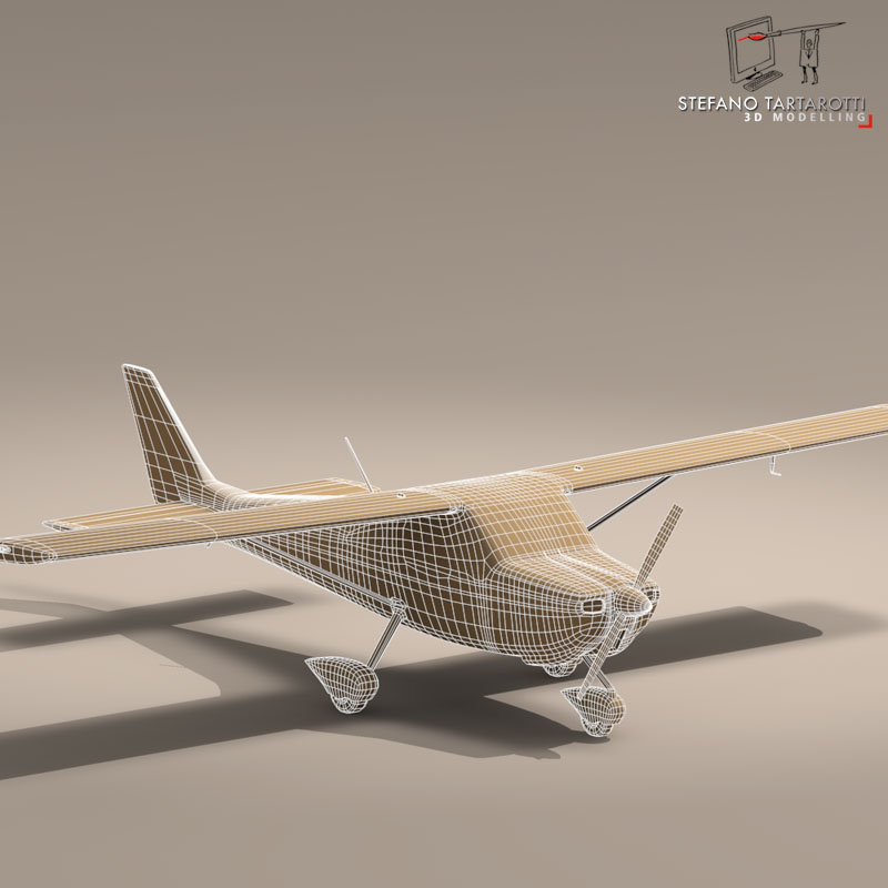 c162 skycatcher 3d model 3ds dxf fbx c4d obj 150868