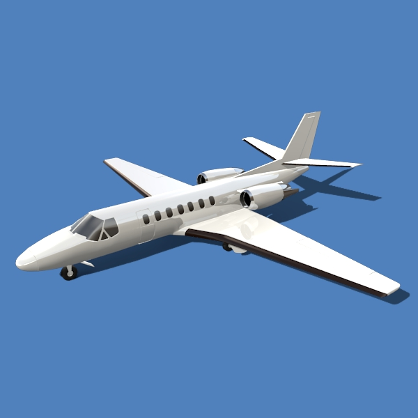 cessna citation encore 3d model 3ds fbx blend lwo obj 145753