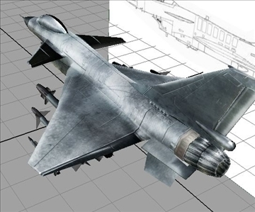 chinese military aircraft j10 3d model 3ds max ma mb obj 84684