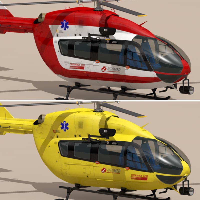 ec145 air ambulance 3d model 3ds fbx c4d dae obj 166062