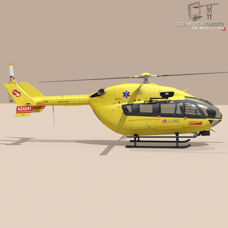 ec145 air ambulance 3d model 3ds fbx c4d dae obj 166065