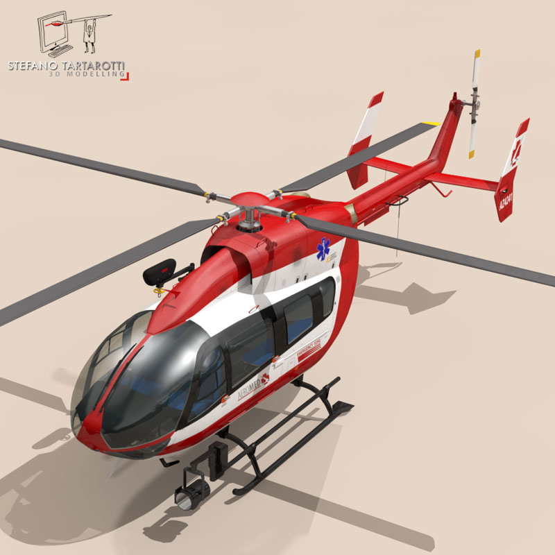 ec145 air ambulance 3d model 3ds fbx c4d dae obj 166067
