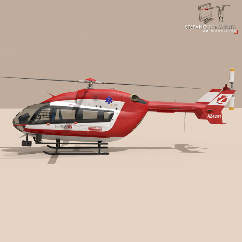 ec145 air ambulance 3d model 3ds fbx c4d dae obj 166068
