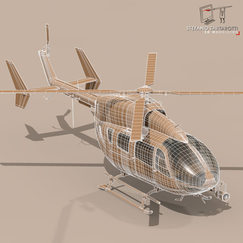 ec145 air ambulance 3d model 3ds fbx c4d dae obj 166070