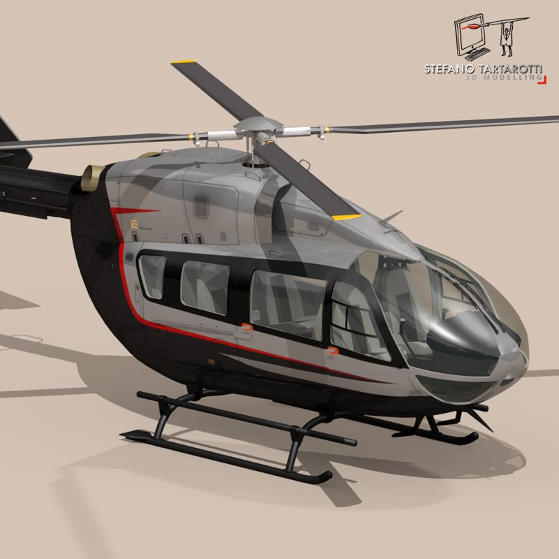 ec145 air executive 3d model 3ds fbx c4d dae obj 166055