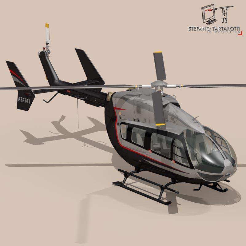 ec145 air executive 3d model 3ds fbx c4d dae obj 166057