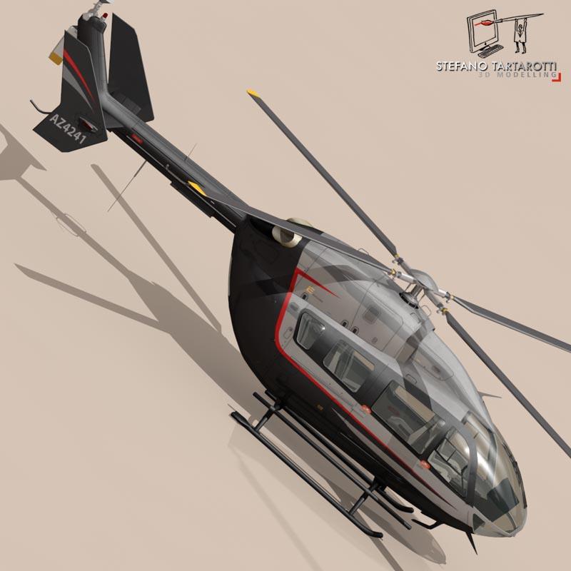 ec145 air executive 3d model 3ds fbx c4d dae obj 166058